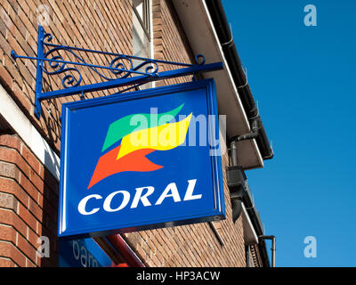 Coral bookmakers, British betting shop - Stock Photo