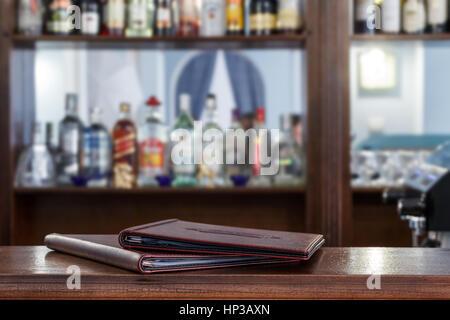 Menu on the bar - Stock Photo