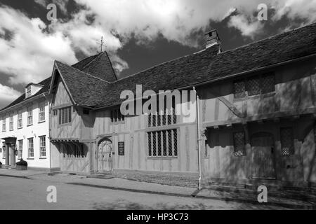Summer, August, September, Little Hall Market square, Lavenham village, Suffolk County, England, Britain. - Stock Photo