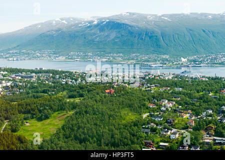 Aerial View of Tromso, Norway, Europe - Stock Photo
