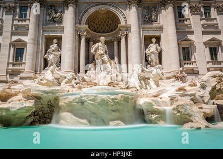 Trevi Fountain, Fontana di Trevi, landmark, Rome, Lazio, Italy - Stock Photo
