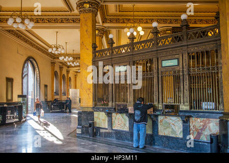 The Post Office Palace, Palacio de Correos, is one the most brilliant examples of the eclectic architecture of the - Stock Photo