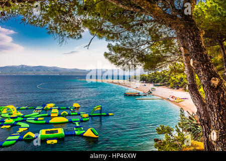 Landscape in Croatia, famous beach Zlatni rat. - Stock Photo