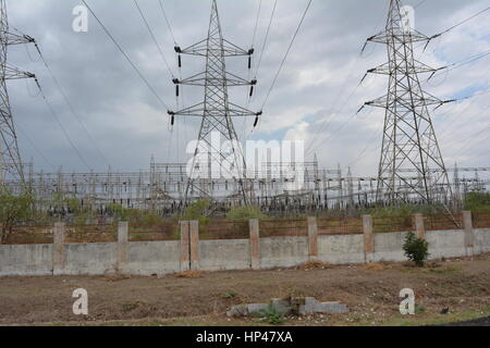 Electrical power stetion - Stock Photo