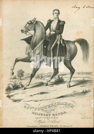Sheet music cover image of the song 'Governor Porter's March', with original authorship notes reading 'Composed - Stock Photo