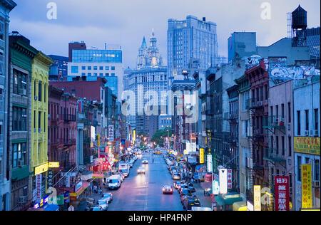 China town. East Broadway,New York City, USA - Stock Photo