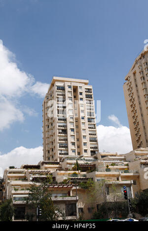apartement building in the city of jerusalem, israel - Stock Photo