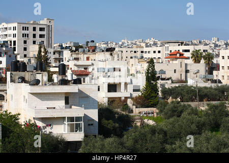 settlements and houses in city of bethlehem, palestine, west bank, israel - Stock Photo