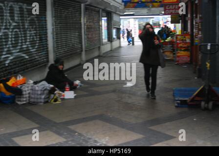 Paul a street drinker ,east st market - Stock Photo