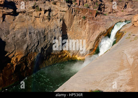Landscape view of the Augrabies Falls National Park, South Africa - Stock Photo