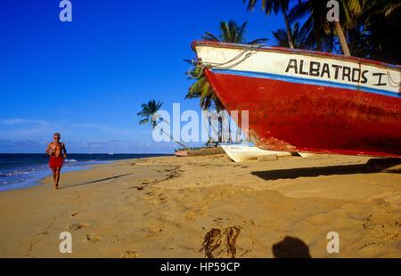 Terrenas beach,  Peninsula de Samana, Dominican Republic - Stock Photo