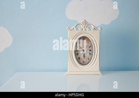 Clock in the nursery room. - Stock Photo