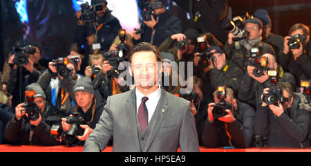 Berlin, Germany. 17th Feb, 2017. Actor Hugh Jackman attends the premiere of 'Logan' at the 67th Berlin International - Stock Photo