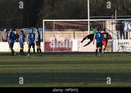 Winchester, Hampshire, UK. 18th Feb 2017. Winchester City FC host Evesham United at home in the Evo-Stik Southern - Stock Photo