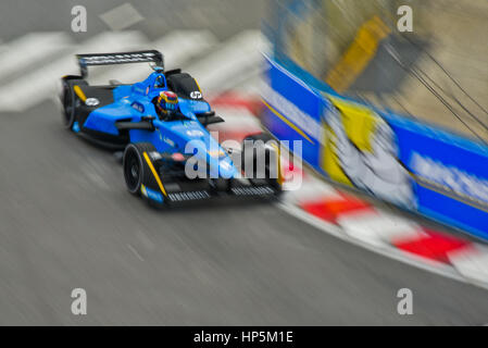 Buenos Aires, Argentina. 18th Feb, 2017. Renault e.dams driver Sebastien Buemi of Switzerland, steers in the track - Stock Photo