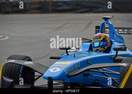 Buenos Aires, Argentina. 18th Feb, 2017. Renault e.dams driver Sebastien Buemi of Switzerland, practices at the - Stock Photo