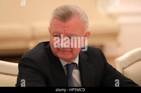 Former Ryazan Region Governor Oleg Kovalyov during a meeting with Russian President Vladimir Putin at the Kremlin - Stock Photo