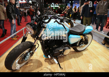 London UK  19-February-2017 The Carole Nash MCN Motorcycle Show 2017 had 22 of the world's leading manufacturers - Stock Photo