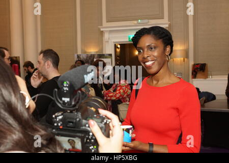 London, UK. 18th Feb, 2017. Fashions Finest Day 2, closing show and behind the scenes at De Vere Grand Connaught - Stock Photo