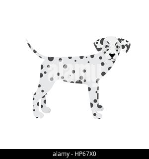 Dalmatian dog vector isolated on a white background - Stock Photo