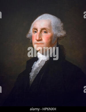 George Washington by Gilbert Stuart, oil on canvas, 1800 - Stock Photo