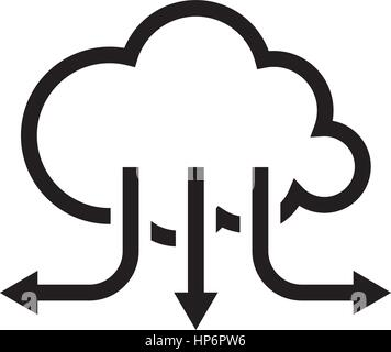 Accelerate Your Cloud Icon. Business Concept. Flat Design. - Stock Photo