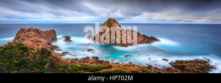 Panorama of Sugarloaf Rock, Western Australia - Stock Photo