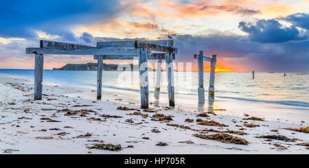Hamelin Bay Jetty, Western Australia - Stock Photo