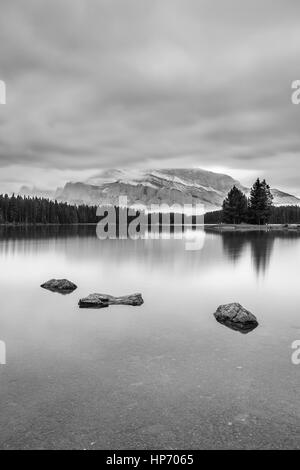 Two Jack Lake, Alberta, Canada - Stock Photo