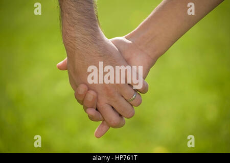 Model released, Hand in Hand - hand in hand - Stock Photo