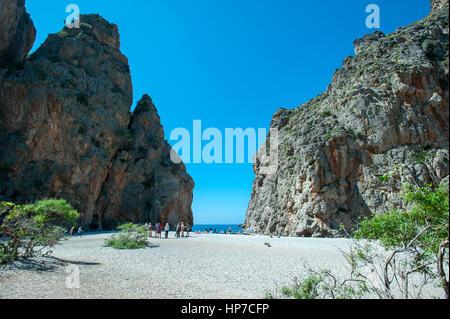 Sa Calobra, Torrent de Pareis, Mallorca, Baleares, Spain