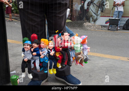 Caracas, Dtto Capital / Venezuela - 04/04/2012.Puppets Street seller with socialist political leader Hugo Chávez - Stock Photo