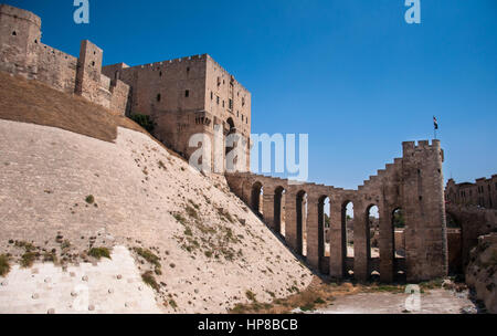 Aleppo Citadel Alappo, Syria - October 10, 2010: Gate of the citadel in Alappo, Syria. - Stock Photo