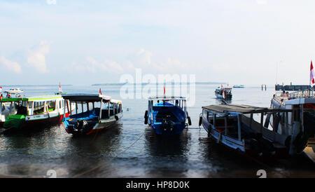Heading to Gili Islands from Lombok Island, Indonesia - Stock Photo