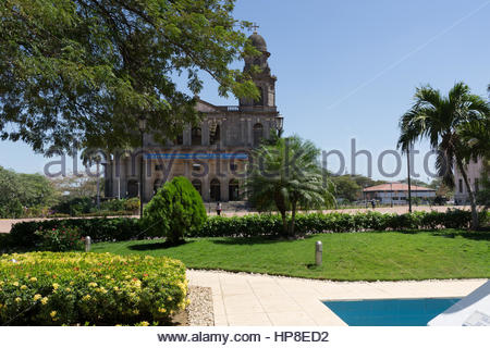 1972 earthquake damaged cathedral in Managua, Nicaragua. - Stock Photo