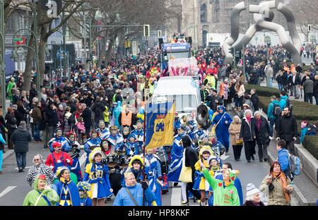 Berlin, Germany. 19th Feb, 2017. View of the Berlin Carnival Parade in Berlin, Germany, 19 February 2017. Photo: - Stock Photo