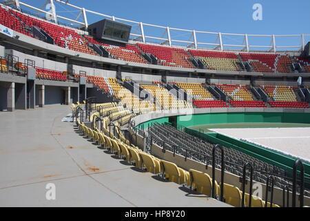 The olympic tennis court in Rio de Janeiro, Brazil, 18 February 2017. Photo: Isaac Risco-Rodriguez/dpa - Stock Photo