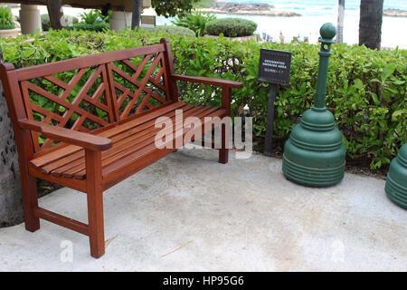 Designated smoking area. - Stock Photo