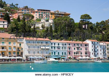 Promenade,porto santo stefano,tuscany,italy - Stock Photo