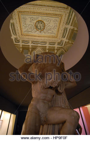 Farnese Atlas,naples national archaeological museum,MANN,naples - Stock Photo
