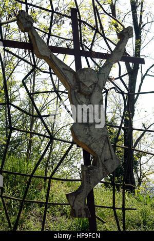 Italy Emilia Romagna Marzabotto San Martino di Caprara: crucifix - Stock Photo