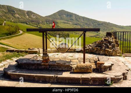 Italy Emilia Romagna Marzabotto Caprara di Sotto Ruins of Church - Stock Photo