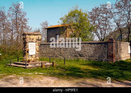 Italy Emilia Romagna Marzabotto Cemetery of  San Martino di Caprara - Stock Photo