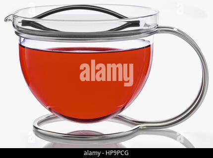 Teekanne aus Glas - Stock Photo