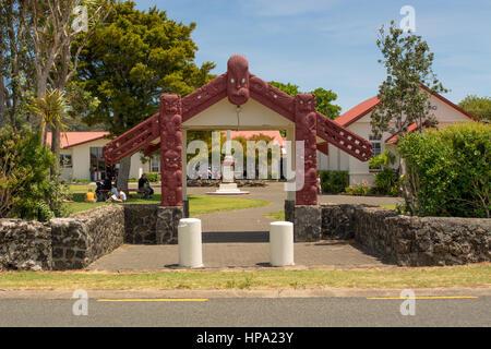 Waitangi Marae New Zealand - Stock Photo