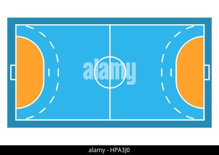 Sample sport field arens of Handball - Stock Photo