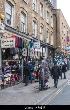 Passers-byBrick Lane bookshop - Stock Photo