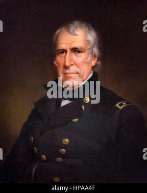 Zachary Taylor. Portrait of the 12th US President Zachary Taylor (1784-1850) by James Reid Lambdin, oil on canvas, - Stock Photo