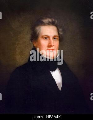 Millard Fillmore. Portrait of the 13th US President Millard Fillmore (1800-1874) by unknown artist, c.1843 - Stock Photo