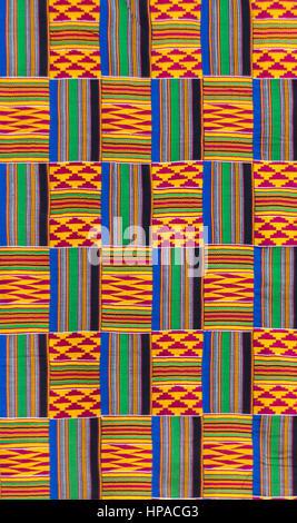 Kente cloth texture - Stock Photo